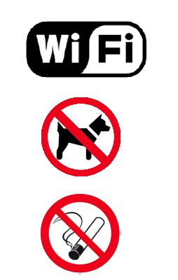 geen dieren, niet roken